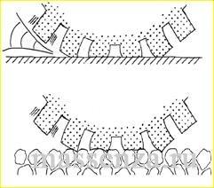 Воздушно накачивающий эффект пористого асфальта